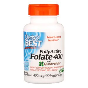 Doctor's Best Fully Active Folian 400  Quatrefolic - 400 mcg 90 kaps.