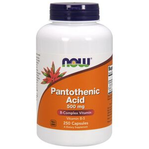 Now Foods Pantothenic Acid - Kwas pantotenowy (Witamina B5)- 500 mg 250 kaps.