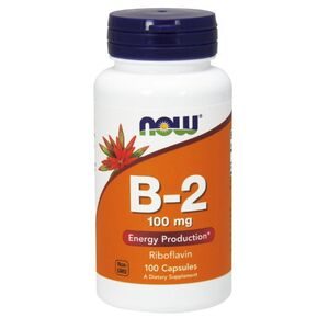 Now Foods B-2 Riboflavin - Witamina B2 100 mg 100 kaps.