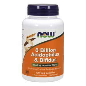 Now Foods 8 Billion Acidophilus & Bifidus 120 kaps. wegetariańskich