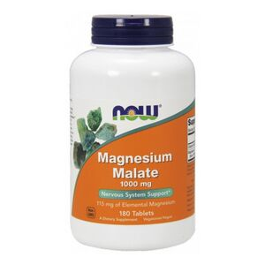 Now Foods Magnesium Malate - Jabłczan Magnezu 1000 mg 180 kaps.
