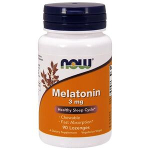 Now Foods Melatonin Chewable - Melatonina - Zdrowy sen - 3 mg 90 kaps.