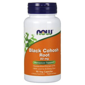 Now Foods Black Cohosh Root 80 mg 90 kaps.
