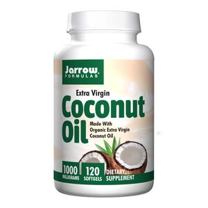 Jarrow Formulas Extra Virgin Coconut Oil - Olej kokosowy - 1000mg 120 kaps.