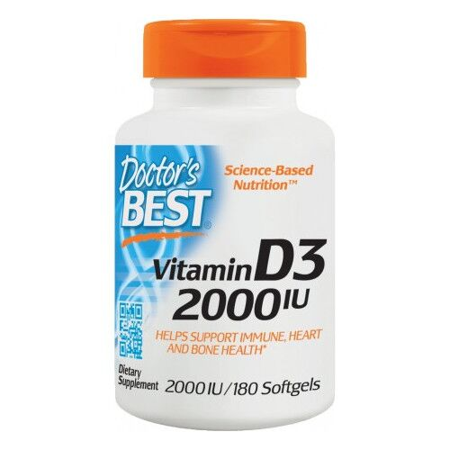Doctor's Best Witamina D3 2000 IU - 180 kaps.