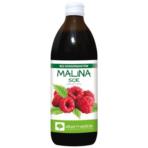 Alter Medica Sok 100% Malina 500 ml