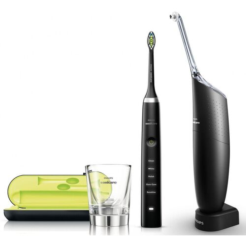 Diamond Clean Black + AirFloss PRO Black HX8491