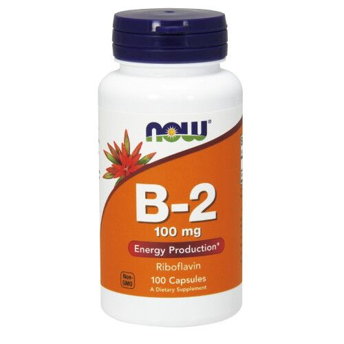 Now Foods B-2 100 mg 100 kaps.