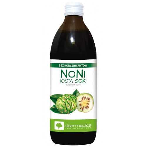 Noni 100% sok suplement diety Alter Medica 500 ml