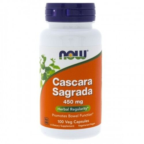 Now Foods Cascara Sagrada 450 mg 100 kaps.