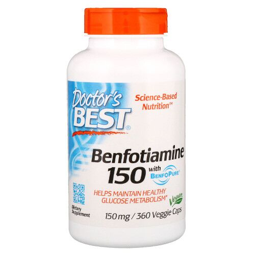 Doctor's Best Benfotiamina 150 mg 360 kaps.
